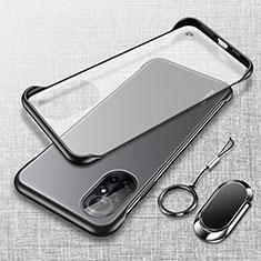 Handyhülle Hülle Crystal Hartschalen Tasche Schutzhülle H01 für Huawei Nova 8 Pro 5G Schwarz