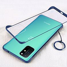 Handyhülle Hülle Crystal Hartschalen Tasche Schutzhülle H01 für OnePlus 8T 5G Blau
