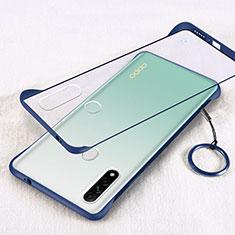 Handyhülle Hülle Crystal Hartschalen Tasche Schutzhülle H01 für Oppo A31 Blau