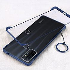Handyhülle Hülle Crystal Hartschalen Tasche Schutzhülle H01 für Oppo A33 Blau