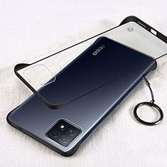 Handyhülle Hülle Crystal Hartschalen Tasche Schutzhülle H01 für Oppo A73 5G Schwarz