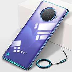 Handyhülle Hülle Crystal Hartschalen Tasche Schutzhülle H01 für Oppo Ace2 Blau