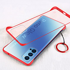 Handyhülle Hülle Crystal Hartschalen Tasche Schutzhülle H01 für Oppo Reno4 5G Rot
