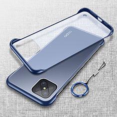 Handyhülle Hülle Crystal Hartschalen Tasche Schutzhülle H01 für Oppo Reno4 Z 5G Blau
