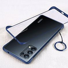 Handyhülle Hülle Crystal Hartschalen Tasche Schutzhülle H01 für Oppo Reno5 Pro 5G Blau