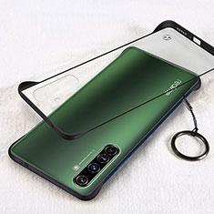 Handyhülle Hülle Crystal Hartschalen Tasche Schutzhülle H01 für Realme X50 Pro 5G Schwarz