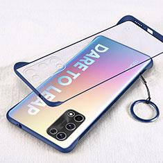 Handyhülle Hülle Crystal Hartschalen Tasche Schutzhülle H01 für Realme X7 Pro 5G Blau