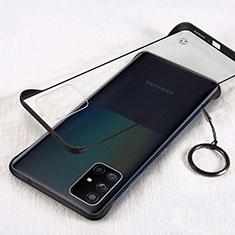 Handyhülle Hülle Crystal Hartschalen Tasche Schutzhülle H01 für Samsung Galaxy A71 5G Schwarz