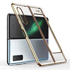 Handyhülle Hülle Crystal Hartschalen Tasche Schutzhülle H01 für Samsung Galaxy Fold Gold