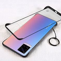 Handyhülle Hülle Crystal Hartschalen Tasche Schutzhülle H01 für Vivo V20 Pro 5G Schwarz