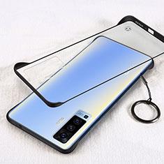 Handyhülle Hülle Crystal Hartschalen Tasche Schutzhülle H01 für Vivo X50 5G Schwarz