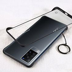 Handyhülle Hülle Crystal Hartschalen Tasche Schutzhülle H01 für Vivo X60 5G Schwarz