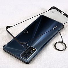 Handyhülle Hülle Crystal Hartschalen Tasche Schutzhülle H01 für Vivo Y50 Schwarz