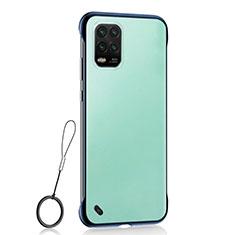 Handyhülle Hülle Crystal Hartschalen Tasche Schutzhülle H01 für Xiaomi Mi 10 Lite Blau