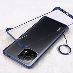 Handyhülle Hülle Crystal Hartschalen Tasche Schutzhülle H01 für Xiaomi Mi 11 5G Blau