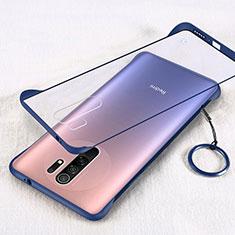 Handyhülle Hülle Crystal Hartschalen Tasche Schutzhülle H01 für Xiaomi Redmi 9 Prime India Blau