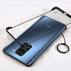 Handyhülle Hülle Crystal Hartschalen Tasche Schutzhülle H01 für Xiaomi Redmi Note 9 Schwarz