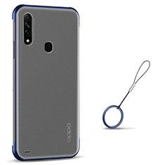 Handyhülle Hülle Crystal Hartschalen Tasche Schutzhülle H02 für Oppo A8 Blau