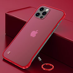Handyhülle Hülle Crystal Hartschalen Tasche Schutzhülle N01 für Apple iPhone 12 Pro Max Rot