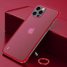 Handyhülle Hülle Crystal Hartschalen Tasche Schutzhülle N01 für Apple iPhone 12 Pro Rot