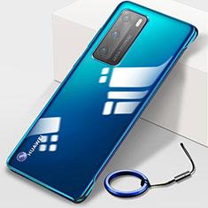 Handyhülle Hülle Crystal Hartschalen Tasche Schutzhülle N02 für Huawei P40 Blau