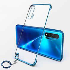 Handyhülle Hülle Crystal Hartschalen Tasche Schutzhülle S01 für Huawei Nova 6 5G Blau