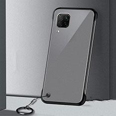 Handyhülle Hülle Crystal Hartschalen Tasche Schutzhülle S01 für Huawei P40 Lite Schwarz