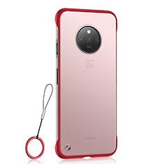 Handyhülle Hülle Crystal Hartschalen Tasche Schutzhülle S01 für OnePlus 7T Rot