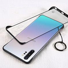 Handyhülle Hülle Crystal Hartschalen Tasche Schutzhülle S01 für Samsung Galaxy Note 10 Plus 5G Schwarz