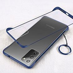 Handyhülle Hülle Crystal Hartschalen Tasche Schutzhülle S01 für Samsung Galaxy Note 20 5G Blau