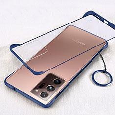 Handyhülle Hülle Crystal Hartschalen Tasche Schutzhülle S01 für Samsung Galaxy Note 20 Ultra 5G Blau