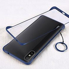 Handyhülle Hülle Crystal Hartschalen Tasche Schutzhülle S01 für Xiaomi Redmi 9A Blau