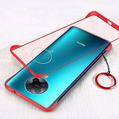 Handyhülle Hülle Crystal Hartschalen Tasche Schutzhülle S01 für Xiaomi Redmi K30 Pro 5G Rot
