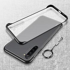 Handyhülle Hülle Crystal Hartschalen Tasche Schutzhülle S01 für Xiaomi Redmi Note 8T Schwarz