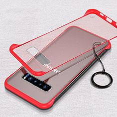 Handyhülle Hülle Crystal Hartschalen Tasche Schutzhülle S02 für Samsung Galaxy S10 Rot