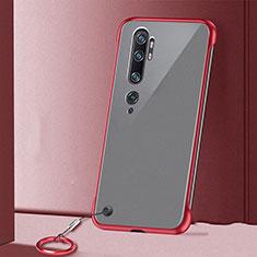Handyhülle Hülle Crystal Hartschalen Tasche Schutzhülle S02 für Xiaomi Mi Note 10 Rot