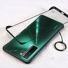 Handyhülle Hülle Crystal Hartschalen Tasche Schutzhülle S03 für Huawei P40 Lite 5G Schwarz