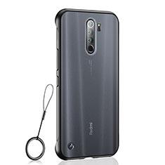 Handyhülle Hülle Crystal Hartschalen Tasche Schutzhülle S04 für Xiaomi Redmi Note 8 Pro Schwarz