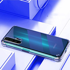 Handyhülle Hülle Crystal Tasche Schutzhülle H01 für Huawei Honor 20 Pro Blau