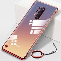 Handyhülle Hülle Crystal Tasche Schutzhülle H01 für OnePlus 8 Pro Rot