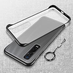 Handyhülle Hülle Crystal Tasche Schutzhülle H01 für Oppo Find X2 Pro Schwarz