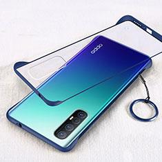 Handyhülle Hülle Crystal Tasche Schutzhülle H01 für Oppo Reno3 Pro Blau