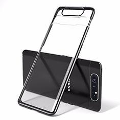 Handyhülle Hülle Crystal Tasche Schutzhülle H01 für Samsung Galaxy A90 4G Schwarz