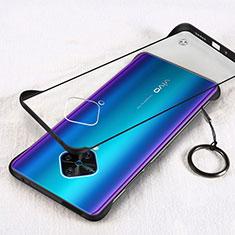 Handyhülle Hülle Crystal Tasche Schutzhülle H01 für Vivo X50 Lite Schwarz