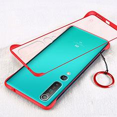 Handyhülle Hülle Crystal Tasche Schutzhülle H01 für Xiaomi Mi 10 Rot