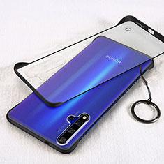 Handyhülle Hülle Crystal Tasche Schutzhülle S01 für Huawei Nova 5T Schwarz
