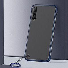 Handyhülle Hülle Crystal Tasche Schutzhülle S01 für Samsung Galaxy A70 Blau