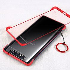 Handyhülle Hülle Crystal Tasche Schutzhülle S01 für Samsung Galaxy A80 Rot