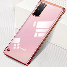 Handyhülle Hülle Crystal Tasche Schutzhülle S01 für Samsung Galaxy S20 5G Rot