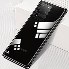 Handyhülle Hülle Crystal Tasche Schutzhülle S02 für Samsung Galaxy S20 Ultra 5G Schwarz